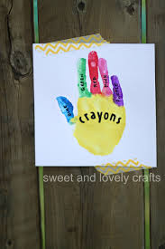 sweet and lovely crafts handprint crayon box
