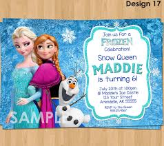 Invitation Card For A Birthday Party Frozen Invitation Frozen Birthday Invitation Disney Frozen