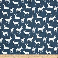 premier prints deer silhouette premier navy discount designer