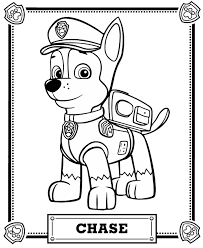 chase portrait free coloring page u2022 animals kids paw patrol