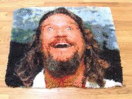 big lebowski dream latch hook rug the dude abides limited