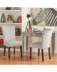 Parsons Dining Chair Deal Alert 2 Piece Starlite Moroccan Upholstered Parsons Wooden