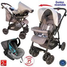 poussette siege auto poussette bébé 4 roues combiné 2 en 1 poussette siège auto cosy