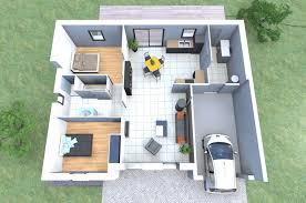 plan de maison plain pied 2 chambres plan maison plain pied 2 chambres 3d
