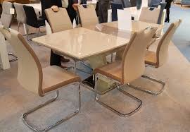 new aspen cream latte high gloss glass 160 200cm ext dining table