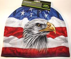 Bald Eagle On Flag Hd Sublimation Usa American Flag And Eagle Stocking Hat Cap Beanie