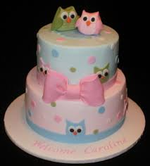 pottery barn owl baby shower cake cakecentral com