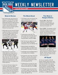 Six Flags Newsletter Weekly Newsletters New York Rangers