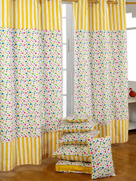 homescapes 100 cotton unlined eyelet curtain pair polka dot