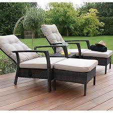 Outdoor Rattan Garden Furniture by San Diego Rattan Garden Furniture Brown Reclining Sun Lounger