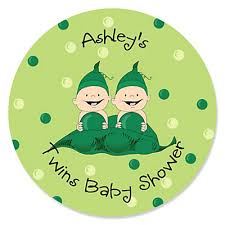 two peas in a pod baby shower two peas in a pod personalized baby shower sticker labels