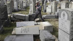 cemetery headstones vandals damage hundreds of headstones at cemetery in