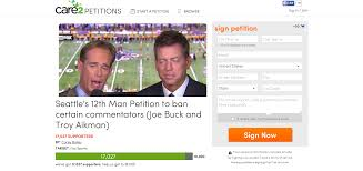 Joe Buck Meme - seahawks fans create petition to ban joe buck troy aikman from