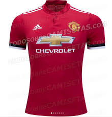 manchester united u0027s red 2017 18 kit leaked black