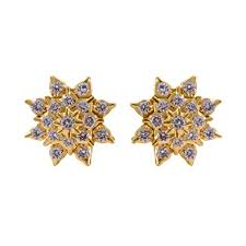diamond earrings online buy joyalukkas 22k yellow gold and diamond stud earrings online at