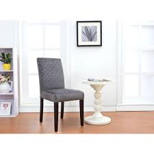 linon home decor upton charcoal microfiber parsons side chair set