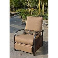 amazon com all weather wicker patio furniture recliner chair