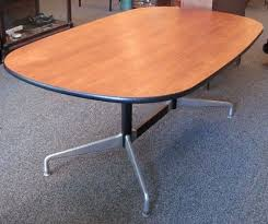 Eames Boardroom Table Six Foot Oval Conference Table Charles Eames Herman Miller