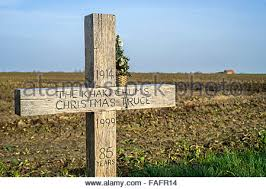 ww1 monument for christmas truce football match played between