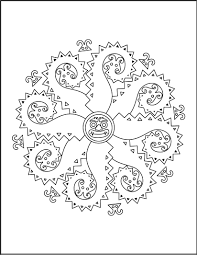 mandala of monsters coloring pages hellokids com