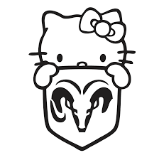kitty dodge shield decal vinyl sticker sticker kitty