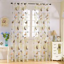 new butterfly finished curtain tulle window curtain for living