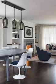 neutral contemporary lighting shines bright in a dining room by