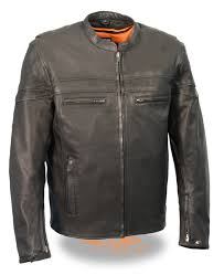 classic leather motorcycle jackets mens black goatskin leather sporty crossover jacket