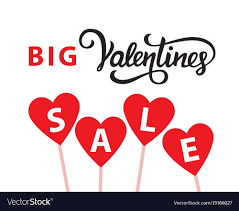 valentines sale valentines day sale banner template royalty free vector