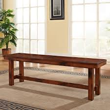 Oak Dining Table Bench Amazon Com We Furniture Solid Wood Dark Oak Dining Bench Kitchen