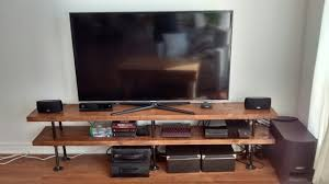 Tv Stand Desk by Industrial Pipe And Wood Tv Stand Media Console