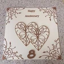 handmade bronze wedding anniversary card happy 8th wedding