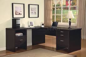 Black Laminate Wood Flooring Awesome Black Color Office Desk Design Ideas Feature Black
