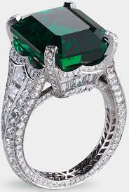 emerald diamonds rings images Three faberg emerald and diamond rings png