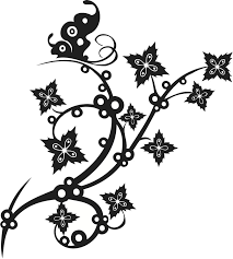 black and white floral tattoos free download clip art free