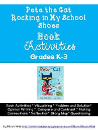 pete the cat rocking in my school shoes book activities by wall