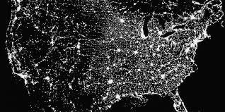 Satellite View Maps Us Satellite Map At Night Satellite Image Maps And Posters South
