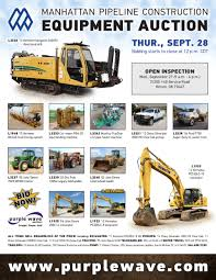 sold september 28 manhattan pipeline construction equipment