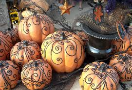 pumpkin decorating ideas with carving the classy housewife 12 chic pumpkin decorating ideas that don u0027t