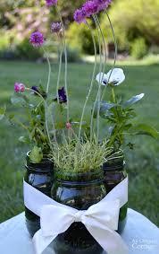 Mason Jar Flower Centerpieces Easy Mason Jar Flower Arrangements With Live Plants