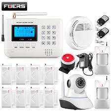 Alarm Systems by Wifi Camera Metal Remote Control Voice Prompt Wireless Door Sensor