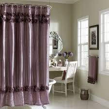 decorative dark grey shower curtain with glossy white and black