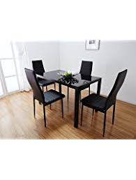 high top dining table for 4 table chair sets amazon com