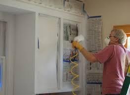 Spray Paint Cabinet Doors Painted Black Cabinet Childcarepartnerships Org