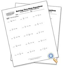 using multiplication solving two step equations worksheetworks