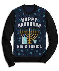 happy hanukkah sweater happy hanukkah gin tonica sweater