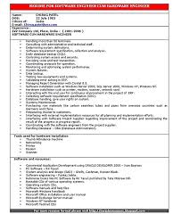 Software Developer Resume Software Engineer Resume Includes Many Things About Your Skills