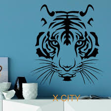 wall decor stencil art for walls inspirations trendy wall winsome stencil designs for walls modern tiger head wild animal stencil designs for walls full