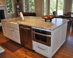 microwave in island in kitchen kitchenaid dishwasher in kitchen island with microwave and white