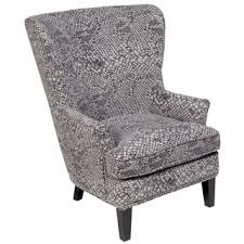 Silver Accent Chair Porter Claudette Charcoal Embossed Velvet Wingback Accent